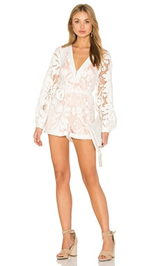 Never Let Me Go Romper in Porcelain