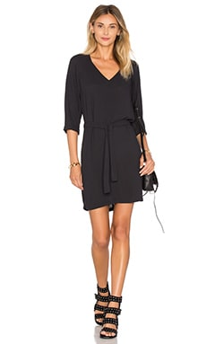 Magdalena V Neck Dress in Carbon