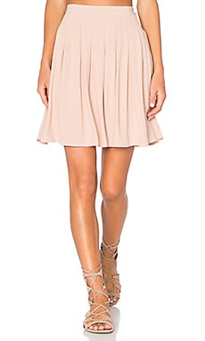 Holiester Pleated Mini Skirt in Nude