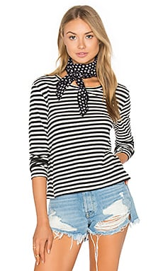 Twist Long Sleeve Tee in Seaton Stripe