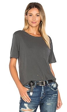 Tomboy Pocket Tee in Faded Black