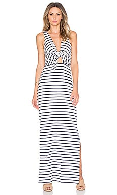 Sky Maxi Dress in Marine Stripe