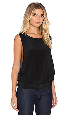 Pia Open Side Tank in Black