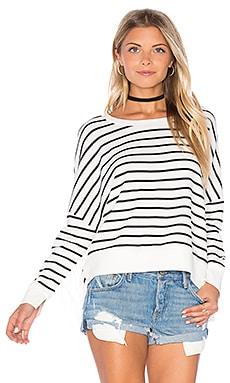 Ivy Fleece Pullover in Stripe