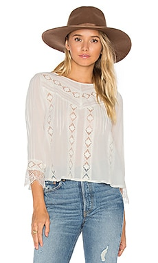 Cherish Woven Top in Casa Blanca