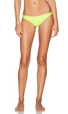 Native Eliza Micro Stud Cheeky Bikini Bottoms in Citron