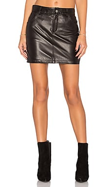 Classic Leather Skirt in Black