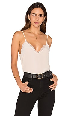 Silk Camisole with Lace Details in Nude