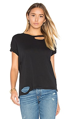 Distressed T Shirt in Black
