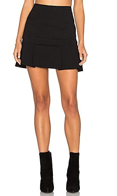 Flounce Mini Skirt in Black