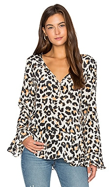 Bell Sleeve Blouse in Off White Jaguar