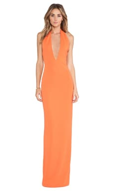 Mega Maxi Dress in Mandarin Red