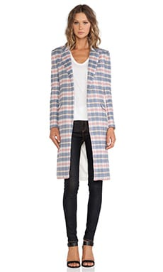 Over The Love Coat in Pink Plaid & Ivory