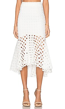 Field Of Lovers Skirt in Cloud White