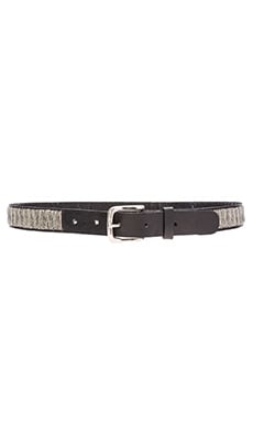 Full Beaded Belt in Silver