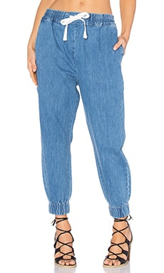 Clovelly Pant in Denim Stone Wash