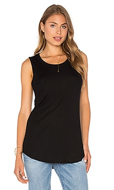 Luxe Ribbed Tank in Black