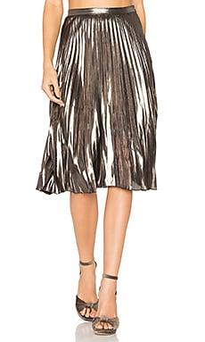 Celeste Skirt in Metallic Bronze