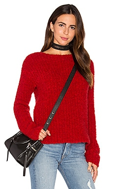 Crew Neck Sweater in Hollyberry