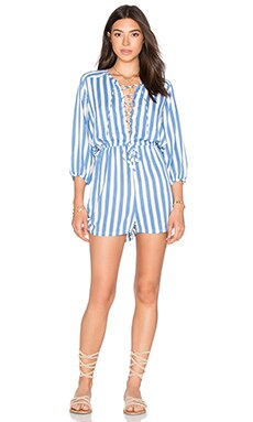 Nomad Romper in Nautical Stripe