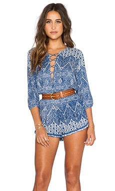 Nomad Romper in Navy Wonder