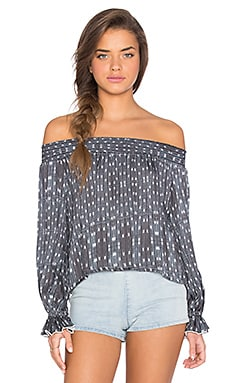 Boheme Sleeved Top in Gypset Blues