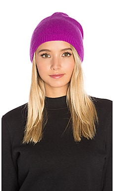 Asymmetric Beanie in Hollyhock