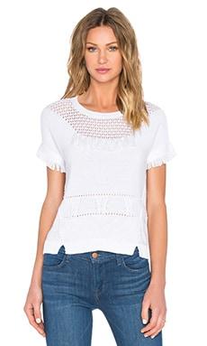 Mix Stitch Tassel Sweater in Bleach White