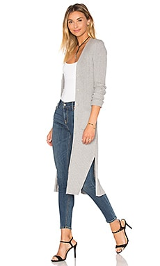 Rib Maxi Cardigan in Sweatshirt