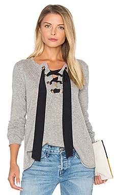 Lace Up Flare Sweater in Sweatshirt