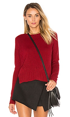 Crew Neck Sweater in Pepperberry