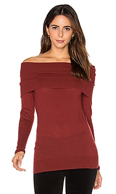 Off Shoulder Sweater in Sienna