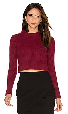 Cropped Sweater in Claret