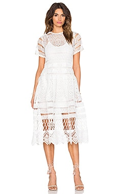 Alanna Midi Dress in White