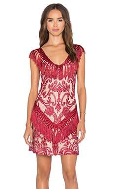 Antonella Dress in Burgundy Lace