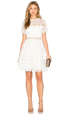 Lula Dress in White Lace