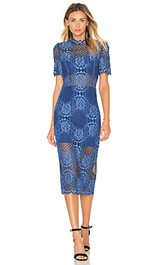Delila Midi Dress in Passionate Blue