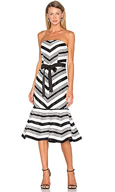 Kirsten Strapless Dress in Black & White