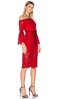 Odette Dress in Red Lace