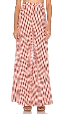 Fiorello Pant in Red & White Dot