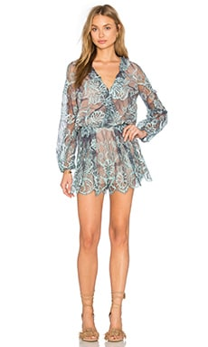 Marena Romper in Light Blue Lace
