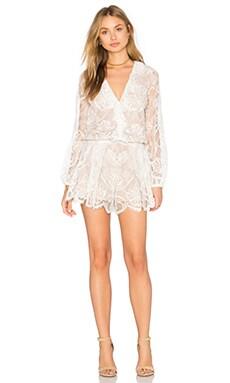 Marena Romper in White Lace