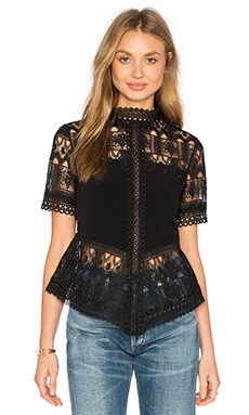 Blayze Top in Black Lace