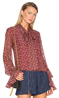 Romin Blouse in Rust Floral