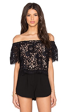 x REVOLVE Fernanda Top in Black Lace