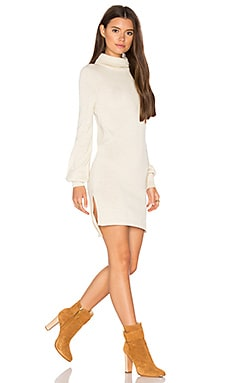 Zoni High Neck Sweater Dress in Ivory