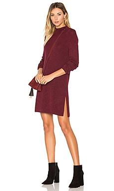 Siyanku Sweater Dress in Burgundy