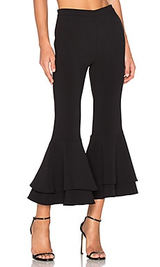 x REVOLVE Supafly Crop Double Ruffle Pant in Black