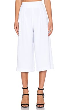 3/4 Coco Pant in White