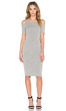 Short Sleeve Deneuve Dress in Heather Grey